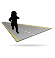 Baby on the road vector