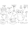 Halloween coloring set for little kids vector