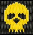 Knitted skull vector
