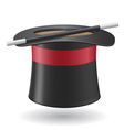 Magic wand and cylinder hat 01 vector