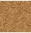 Coffee seamless pattern with coffee beans vector