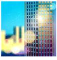 Sunlit skyscraper vector