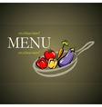 Restaurant menu card design with pan and vector