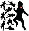 Baby black silhouette vector