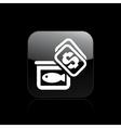 Market fish icon vector
