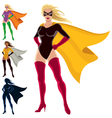 Superhero - female vector