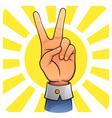 Victory hand vector