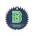 Boxing - sports and recreation label or heraldic vector