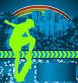 Skate grunge background vector
