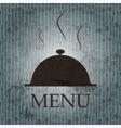 Restaurant menu template in grunge retro style vector