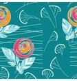 Seamless vintage rose pattern background vector