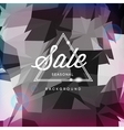 Sale discount poster polygonal background vector