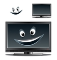 Happy computer monitor or tv scren vector