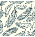 Seamless pattern with hand drawn decorative vector