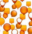 Speech bubbles seamless background vector