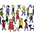 People crowd vector