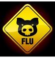 Warning h1n1 sign vector