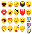 Big set of smiles vector