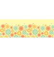 Seamless floral pattern with cartoon birds vector