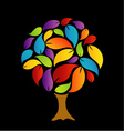Tree with colorful leaves vector