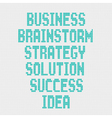 Business word on grey background vector