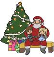 Santa setting vector
