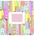 City background frame vector