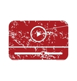Red grunge media player logo vector