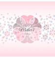 Lettering happy mothers day card vector