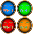 Four wi-fi icons vector