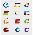 Unusual letters c set - isolated element c symbol vector