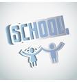 Paper craft school sign design vector