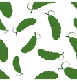 Pattern silhouette cucumber vector