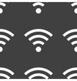Wi-fi web icon flat design seamless gray pattern vector