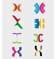 Unusual letters x set - isolated element x symbol vector