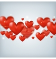 Flying red hearts happy valentines day great for vector