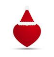 Love heart with santa hat vector