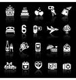 Set valentines day icons romantic travel vector