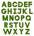 Green alphabet vector