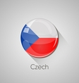 European flags set - czech vector