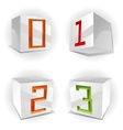 Cube alphabet numbers 0123 vector