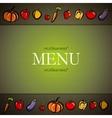 Restaurant menu design with fruit and vegetables vector