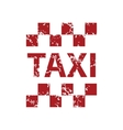 Red grunge taxi logo vector