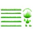 High quality grass set vector