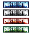 Construction banners vector