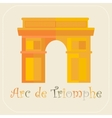 Arch of triumph icon flat vector