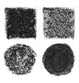 Oil pastel elements vector