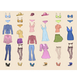 Clothing templates vector