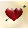 Origami heart design with arrow eps 10 vector