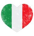 Italy heart retro flag vector